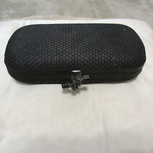 bebe Black Sparkle clutch NWT
